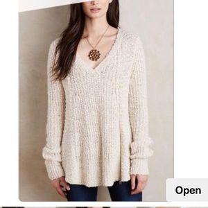 ❤️Moth Oatmeal Cream Sweater w/ zipper (XS)